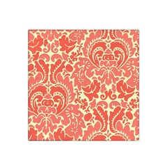 Red Floral Satin Bandana Scarf by AnjaniArt