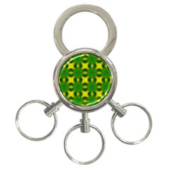Background Colour Circle Yellow Green 3 Ring Key Chains by AnjaniArt