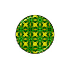 Background Colour Circle Yellow Green Hat Clip Ball Marker (4 Pack) by AnjaniArt