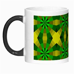 Background Colour Circle Yellow Green Morph Mugs by AnjaniArt