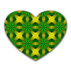 Background Colour Circle Yellow Green Heart Mousepads