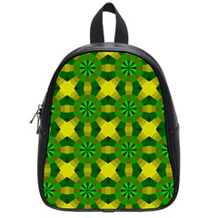 Background Colour Circle Yellow Green School Bags (small)  by AnjaniArt