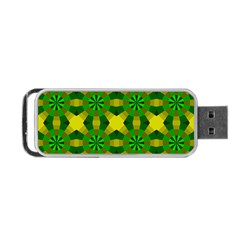Background Colour Circle Yellow Green Portable Usb Flash (two Sides) by AnjaniArt