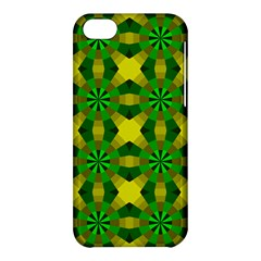 Background Colour Circle Yellow Green Apple Iphone 5c Hardshell Case by AnjaniArt