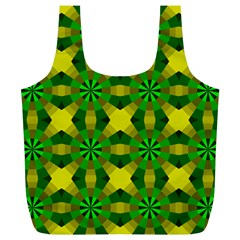 Background Colour Circle Yellow Green Full Print Recycle Bags (l)  by AnjaniArt