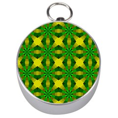 Background Colour Circle Yellow Green Silver Compasses by AnjaniArt