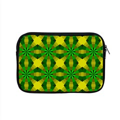 Background Colour Circle Yellow Green Apple Macbook Pro 15  Zipper Case by AnjaniArt
