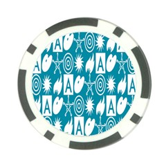Act Symbols Poker Chip Card Guard (10 pack) by AnjaniArt