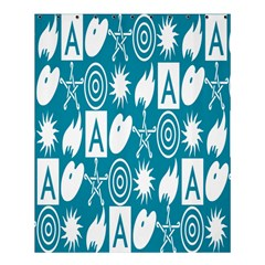 Act Symbols Shower Curtain 60  X 72  (medium)  by AnjaniArt
