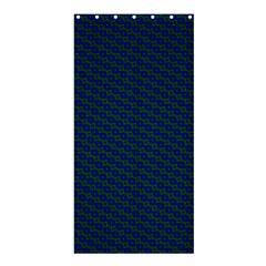 Chain Blue Green Woven Fabric Shower Curtain 36  X 72  (stall)  by AnjaniArt