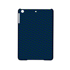 Chain Blue Green Woven Fabric Ipad Mini 2 Hardshell Cases by AnjaniArt