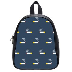 Cigarette Grey School Bags (small)  by AnjaniArt