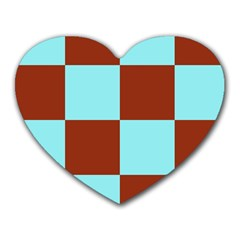 Box Chevron Brown Blue Heart Mousepads