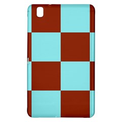 Box Chevron Brown Blue Samsung Galaxy Tab Pro 8 4 Hardshell Case by AnjaniArt