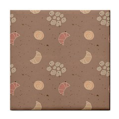 Bread Cake Brown Tile Coasters by AnjaniArt