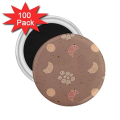 Bread Cake Brown 2 25  Magnets (100 Pack)  by AnjaniArt
