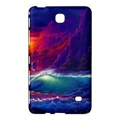 Sunset Orange Sky Dark Cloud Sea Waves Of The Sea, Rocky Mountains Art Samsung Galaxy Tab 4 (8 ) Hardshell Case  by Onesevenart