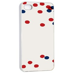 Circle Red Blue Apple Iphone 4/4s Seamless Case (white)