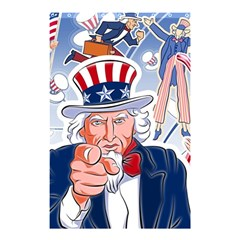 United States Of America Celebration Of Independence Day Uncle Sam Shower Curtain 48  X 72  (small)  by Onesevenart