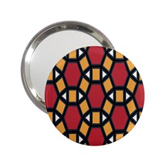 Circle Ball Red Yellow 2 25  Handbag Mirrors