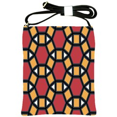 Circle Ball Red Yellow Shoulder Sling Bags by AnjaniArt