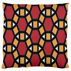 Circle Ball Red Yellow Standard Flano Cushion Case (one Side) by AnjaniArt