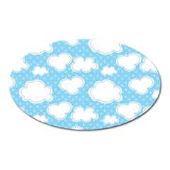 Cloud Blue Sky Oval Magnet