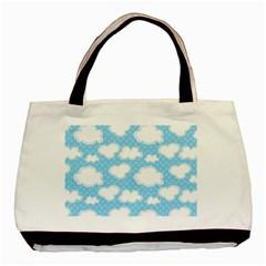 Cloud Blue Sky Basic Tote Bag by AnjaniArt