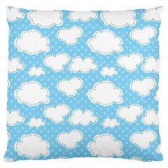 Cloud Blue Sky Standard Flano Cushion Case (Two Sides) by AnjaniArt