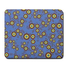 Circle Purple Yellow Large Mousepads by AnjaniArt