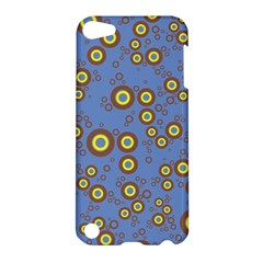 Circle Purple Yellow Apple Ipod Touch 5 Hardshell Case by AnjaniArt