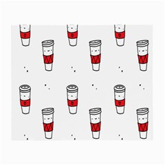 Coffee Cup Glass Small Glasses Cloth by AnjaniArt