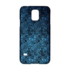 Blue Texture Samsung Galaxy S5 Hardshell Case  by AnjaniArt