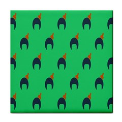 Comb Disco Green Tile Coasters