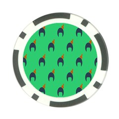 Comb Disco Green Poker Chip Card Guard by AnjaniArt