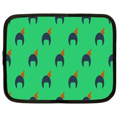 Comb Disco Green Netbook Case (xl)  by AnjaniArt