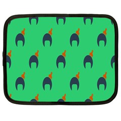 Comb Disco Green Netbook Case (xxl)  by AnjaniArt