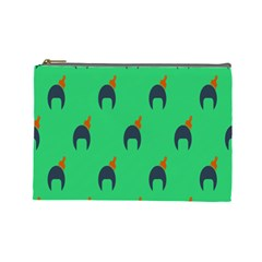 Comb Disco Green Cosmetic Bag (large)  by AnjaniArt