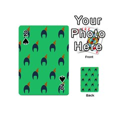Comb Disco Green Playing Cards 54 (mini)  by AnjaniArt