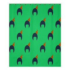 Comb Disco Green Shower Curtain 60  X 72  (medium)  by AnjaniArt