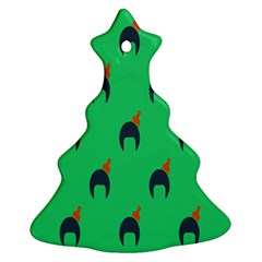 Comb Disco Green Christmas Tree Ornament (two Sides) by AnjaniArt