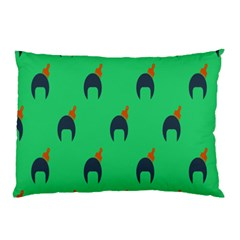 Comb Disco Green Pillow Case (two Sides) by AnjaniArt