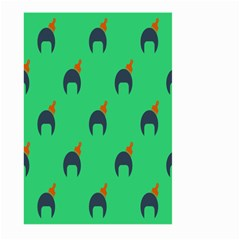 Comb Disco Green Large Garden Flag (two Sides) by AnjaniArt