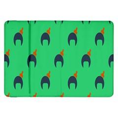 Comb Disco Green Samsung Galaxy Tab 8 9  P7300 Flip Case by AnjaniArt