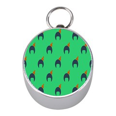 Comb Disco Green Mini Silver Compasses by AnjaniArt
