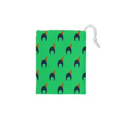 Comb Disco Green Drawstring Pouches (xs)  by AnjaniArt