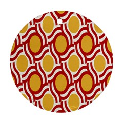 Circle Orange Red Ornament (round) by AnjaniArt