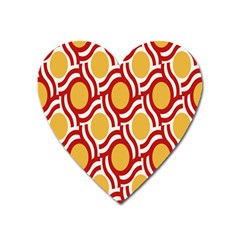 Circle Orange Red Heart Magnet by AnjaniArt