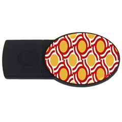 Circle Orange Red Usb Flash Drive Oval (4 Gb) by AnjaniArt