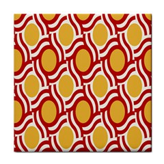 Circle Orange Red Face Towel by AnjaniArt